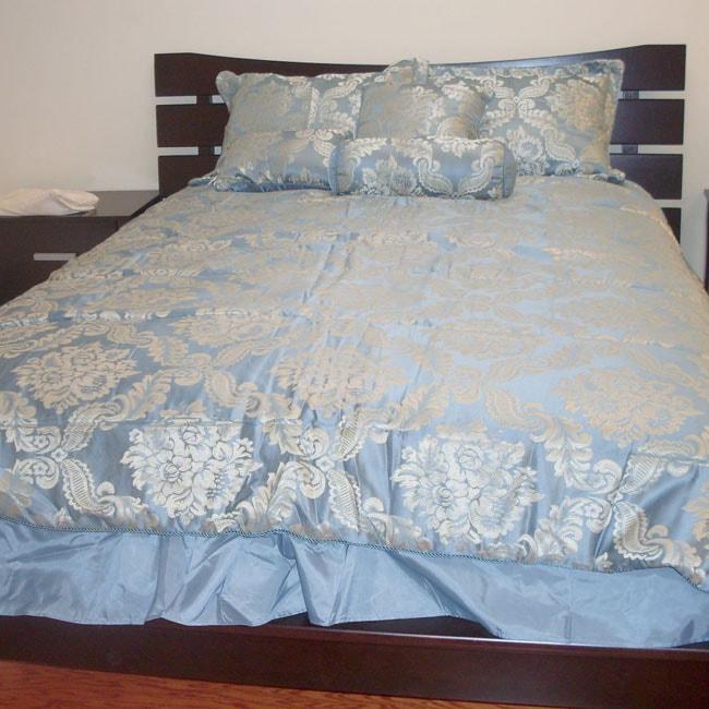 Clara Blue 7-piece Comforter Set