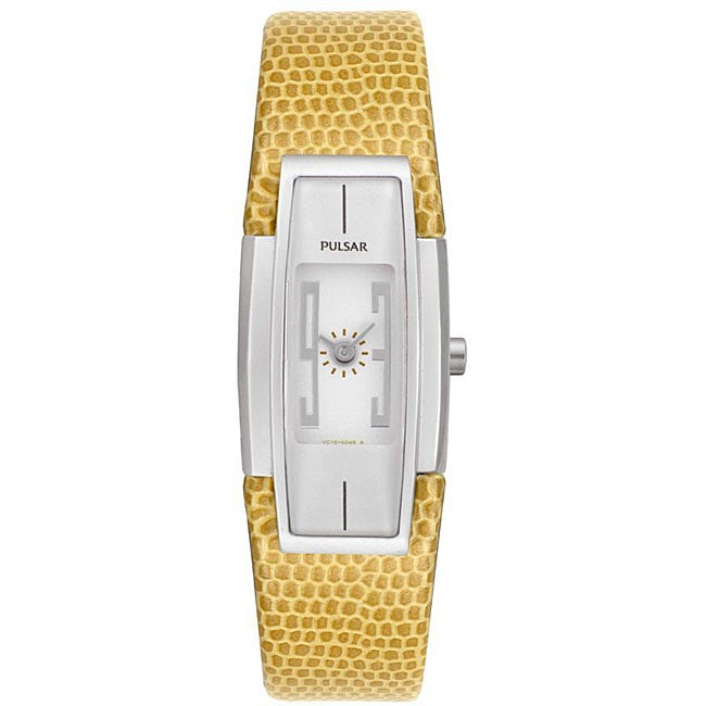 Pulsar Women's Beige Leather Strap Watch