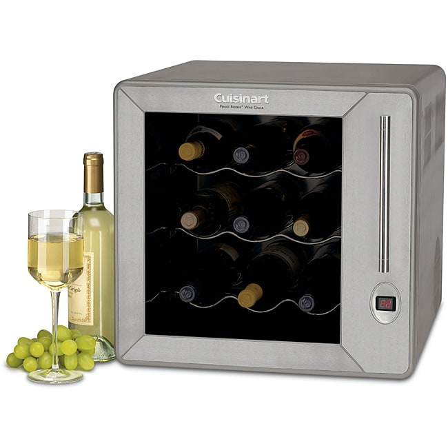 Cuisinart Stainless Steel 9-bottle Wine Cellar (Refurbished)  sc 1 st  Overstock.com & Shop Cuisinart Stainless Steel 9-bottle Wine Cellar (Refurbished ...