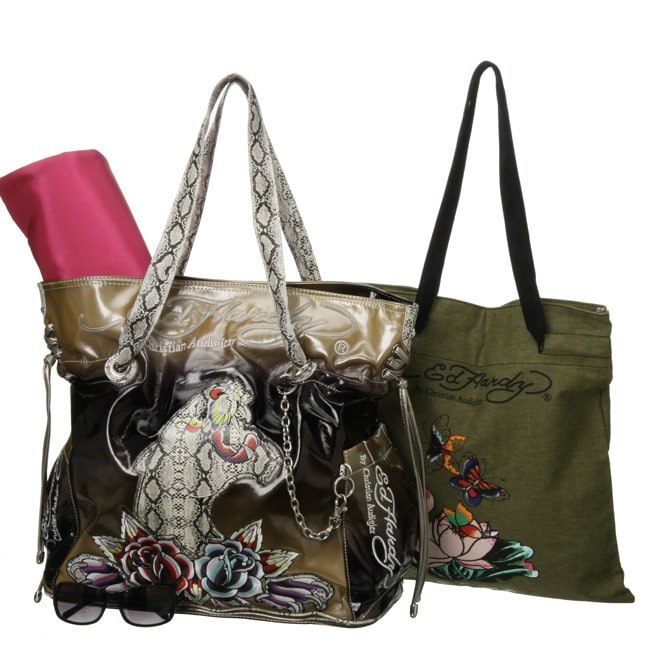 8229cd568a39 Shop Ed Hardy  Luella  Lace Up Diaper Bag - Free Shipping Today -  Overstock.com - 4293511