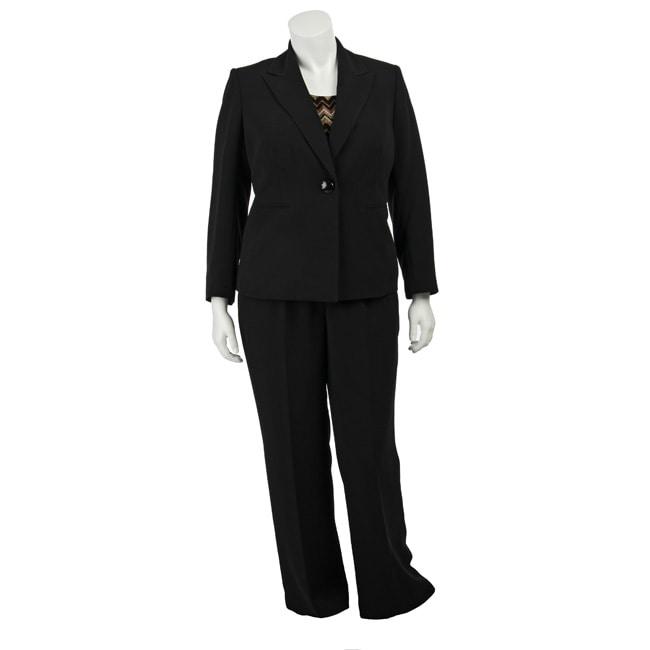 Kasper Women's Plus Size 3-piece Pant Suit