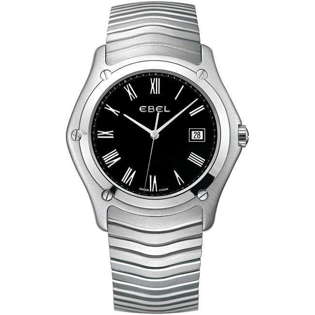 Ebel Classic Men's Stainless Steel Black Face Watch