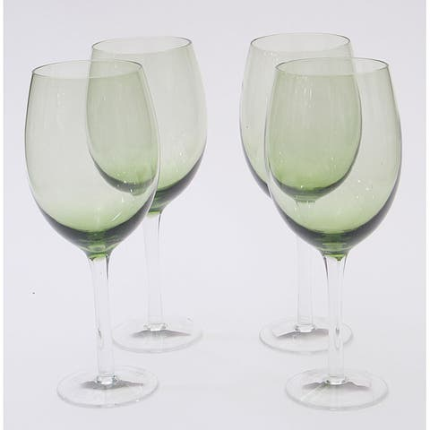 Certified International Olive Green 20-oz White Wine Glasses (Set of 8)