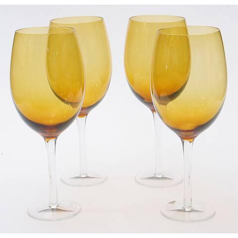 Certified International Dark Amber 20-oz White Wine Glasses (Set of 8)