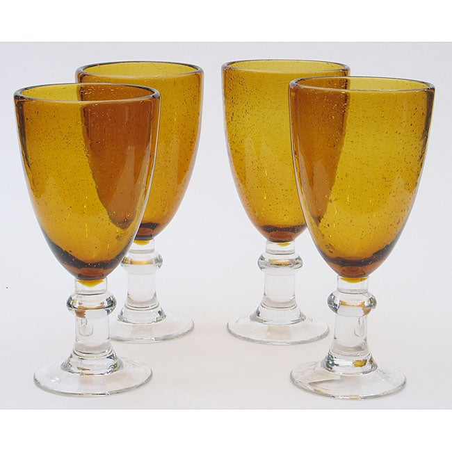 Certified International Amber Bubble 16-oz All Purpose Goblets (Set of 8)