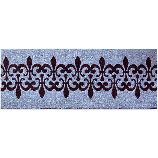 Blue Coir Fleur De Lis Door Mat Free Shipping On Orders Over 45 12282151