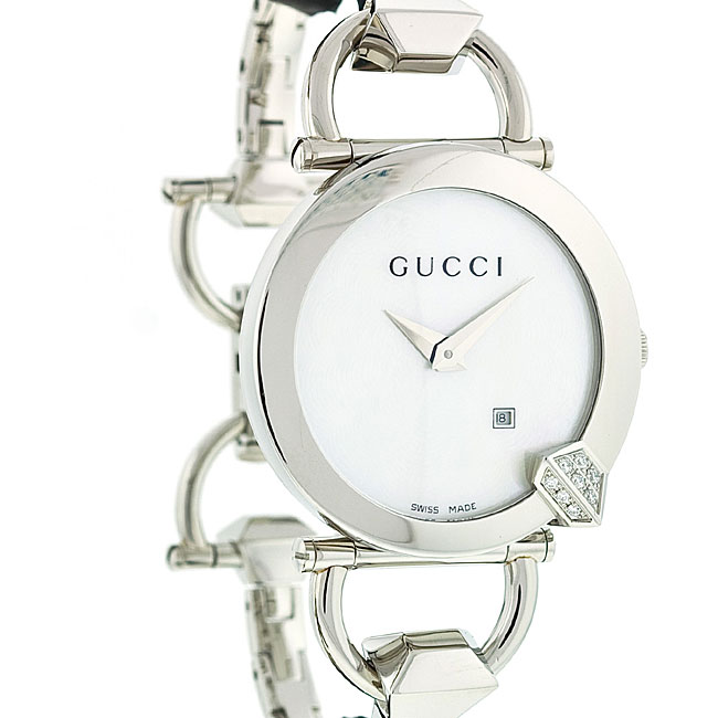 bbc325c6542 Shop Gucci Women s Chiodo White Dial Link Bracelet Watch - Free Shipping  Today - Overstock - 4305207