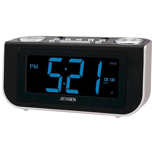 jensen smart talk am fm dual talking alarm clock free shipping on orders o. Black Bedroom Furniture Sets. Home Design Ideas
