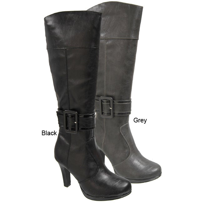 2438013ec5a6 Shop Madden Girl by Steve Madden Women s Buckle Accent Boots - Free  Shipping Today - Overstock - 4306367