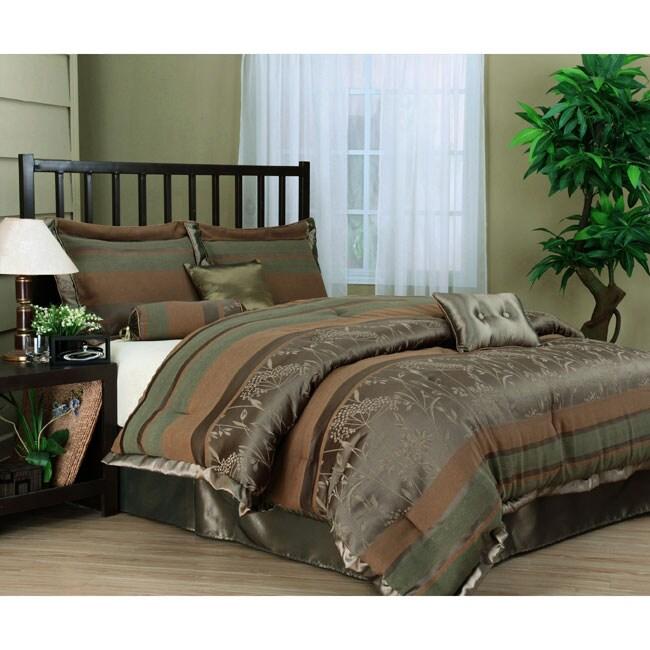 Cara 7 Piece Contemporary Comforter Set