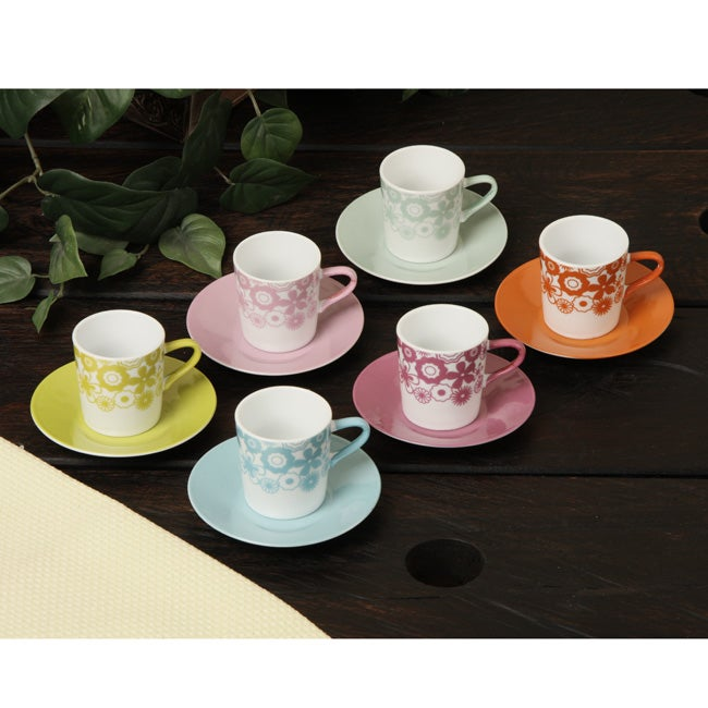 Shop Yedi Classic Coffee & Tea Retro 12-piece Espresso Cup and ...