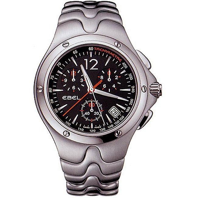 Ebel Sportwave Men S Black Chronograph Watch Free