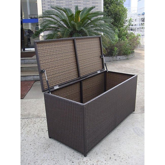 All Weather Wicker Storage Box Free Shipping Today