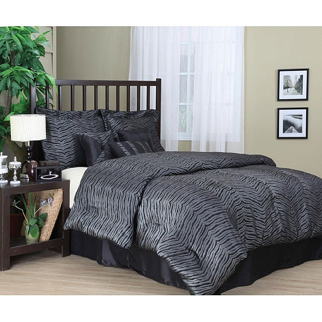 Savannah 7-piece Zebra Pattern Comforter Set