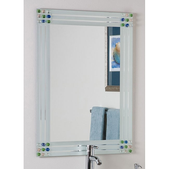 Bejeweled Frameless Bathroom Mirror - Free Shipping Today - Overstock ...