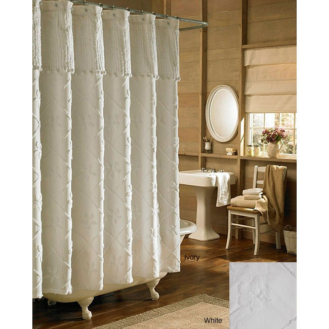 Shop Tufted Chenille Shower Curtain