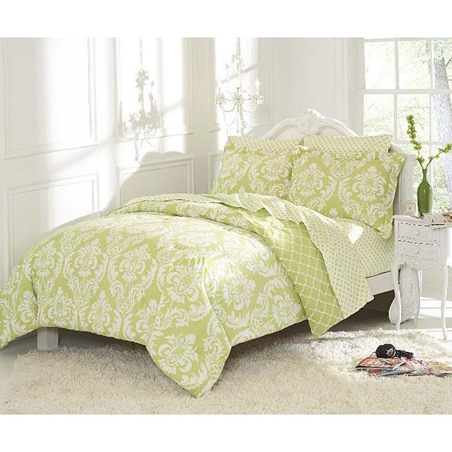 Marcheline Mint Mini 5-piece Bed in a Bag with Sheet Set