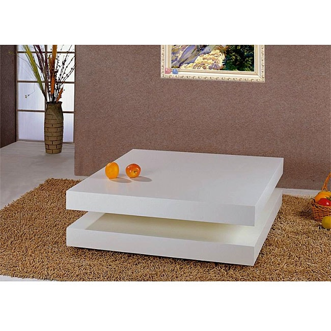 Shop Modern White Square Coffee Table Free Shipping