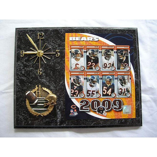 Chicago Bears Team Picture Plaque Clock - Thumbnail 0