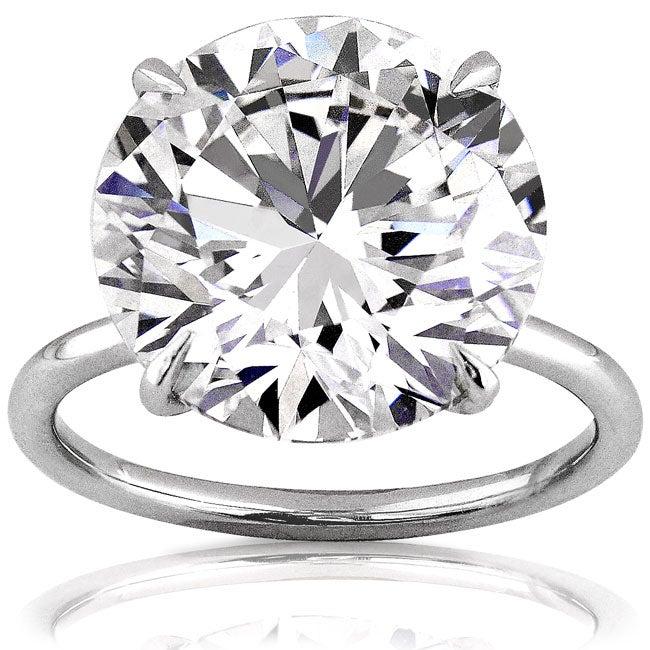 Platinum 10ct TDW GIA Certified Diamond Ring (F, VVS2) (Size 6.5)