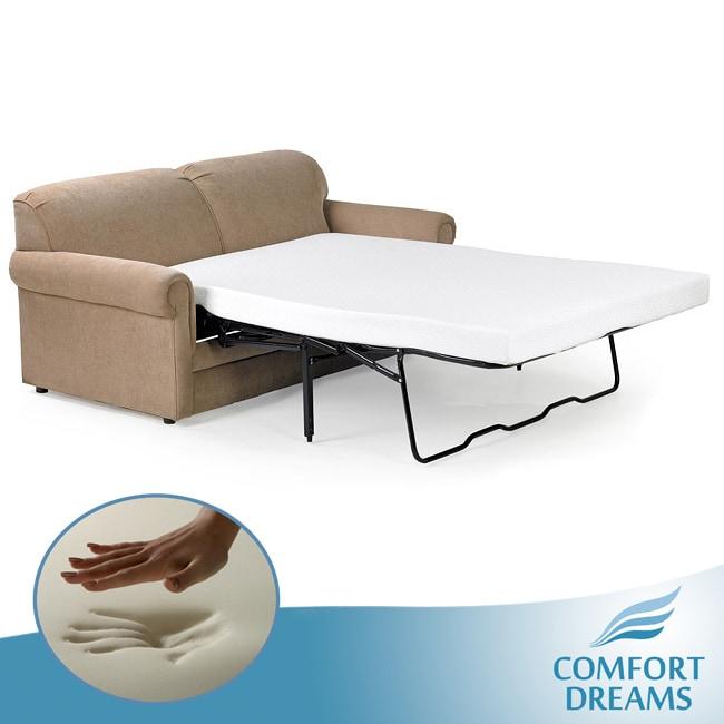 Comfort Dreams 4.5-inch Single-size Memory Foam Sofa Sleeper Mattress