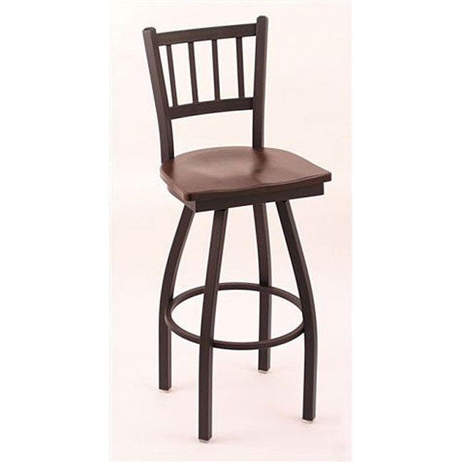 Shop Cambridge Black 25 Inch Counter Swivel Stool With Dark Cherry