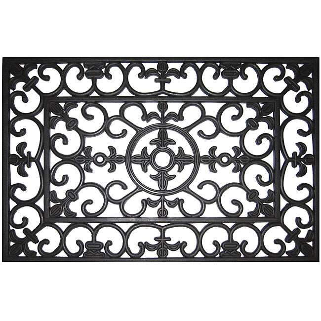 Rubber fleur de lis door mat 2 39 x 3 39 free shipping on orders over 45 12297606 - Fleur de lis doormat ...