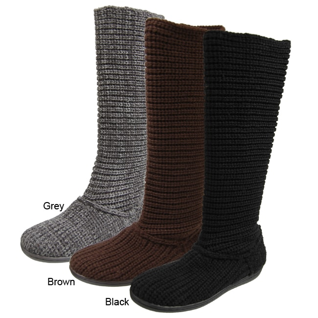 Creative Details About Bearpaw Knit Tall Triangle Button Boot  Women39s