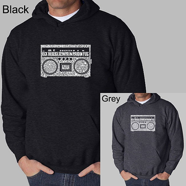 Los Angeles Pop Art Men's Boom Box Hoodie