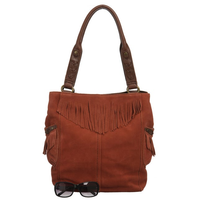 Lucky Brand '1968' Suede Fringed Tote