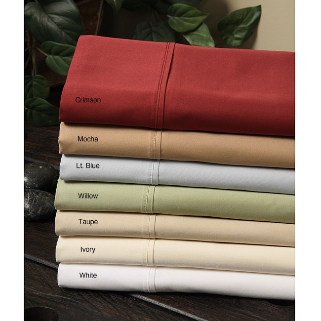 Wrinkle-resistant Cotton Sateen 400 Thread Count Sheet Set
