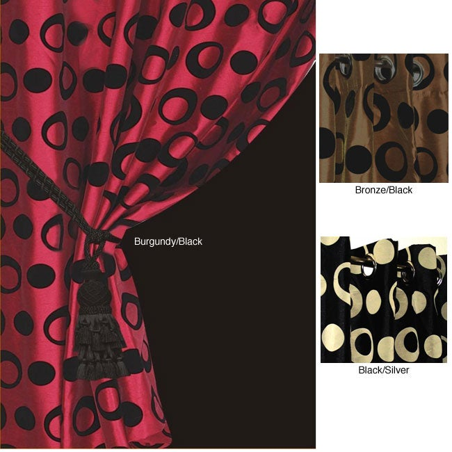 9325d6124fb Shop Lambrequin Jazz Lined Grommet Top 84-inch Curtain Panel - Free  Shipping Today - Overstock.com - 4328713