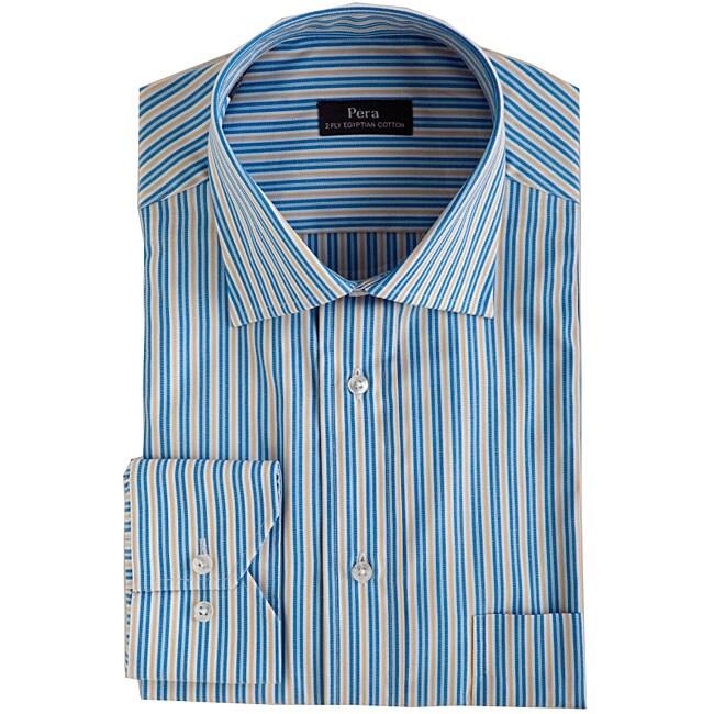 Blue and yellow striped dress shirt dress online uk for Blue and yellow dress shirt