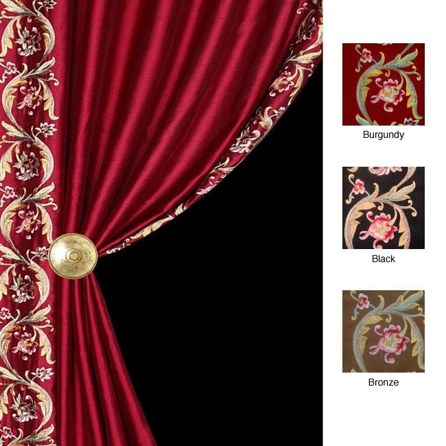 Lambrequin Luxor Lined Rod Pocket 96-inch Curtain Panel