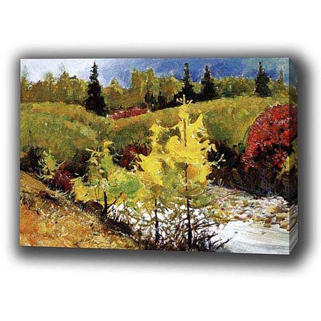 'Landscape Mountain Autumn' Giclee Print Canvas Art