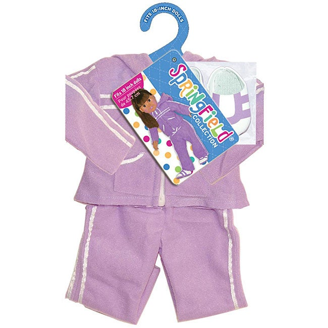 Springfield Collection Purple Athletic Suit and Shoes for Dolls