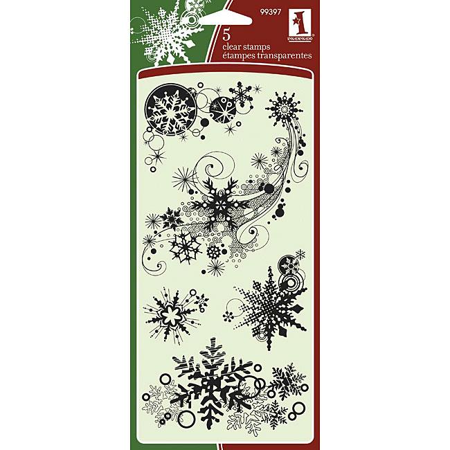 Inkadinkado 'Snowflakes' Clear Seasonal Stamps