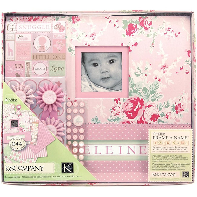 Postbound 'Little House Baby Girl' Boxed Scrapbook Kit