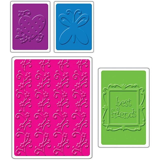 Sizzix 'Best Friends' Textured Impressions Embossing Folders