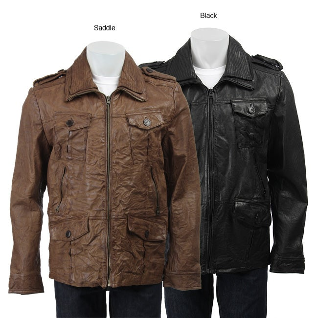 8d099571ea Shop Levi s Capital E Men s Leather Field Coat - Free Shipping Today -  Overstock - 4332921