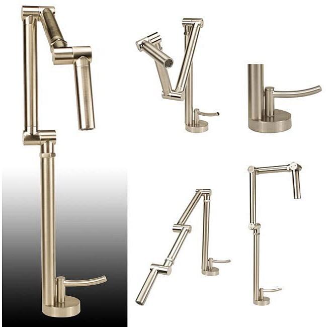 Geyser Brushed Nickel Articulating Kitchen Faucet Free Shipping