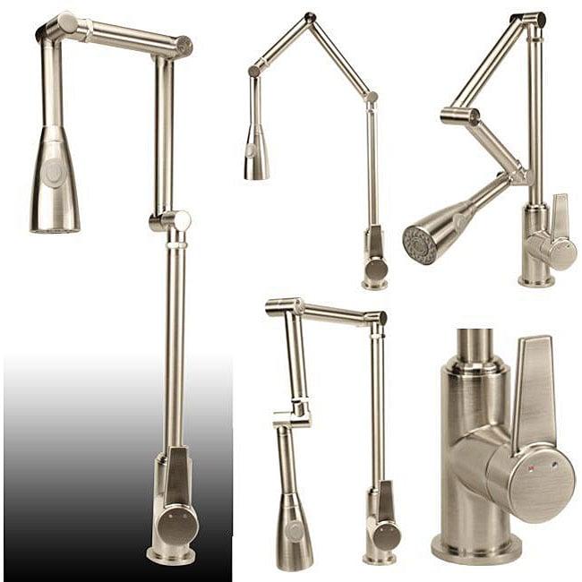 Geyser Brushed Nickel Articulating Kitchen Faucet Free