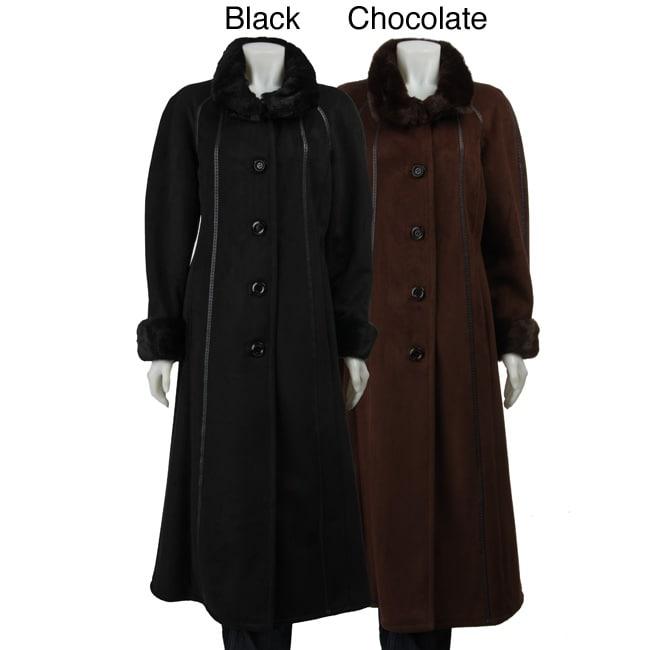 Gallery Women's Full-length Faux Fur Coat