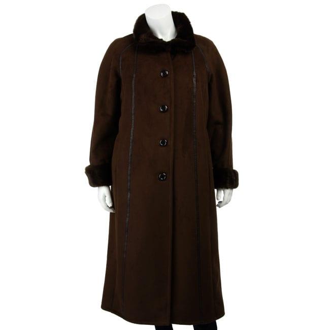 Gallery Women's Plus Size Full-length Coat