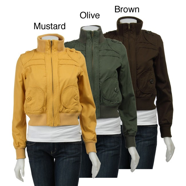 1728bc73b Coffee Shop Women's Twill Bomber Jacket