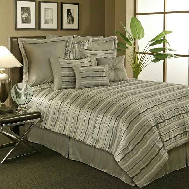 Sherry Kline 'Stretta' 6-piece Blue King Comforter Set (Open Box)