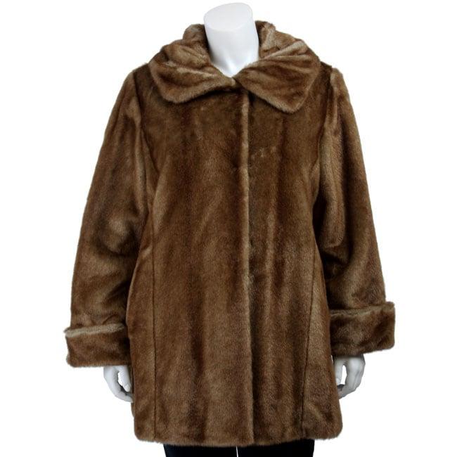 facb153fd30c6 Shop Jones New York Women s Plus Size Faux Fur Coat - Free Shipping Today -  Overstock - 4340539