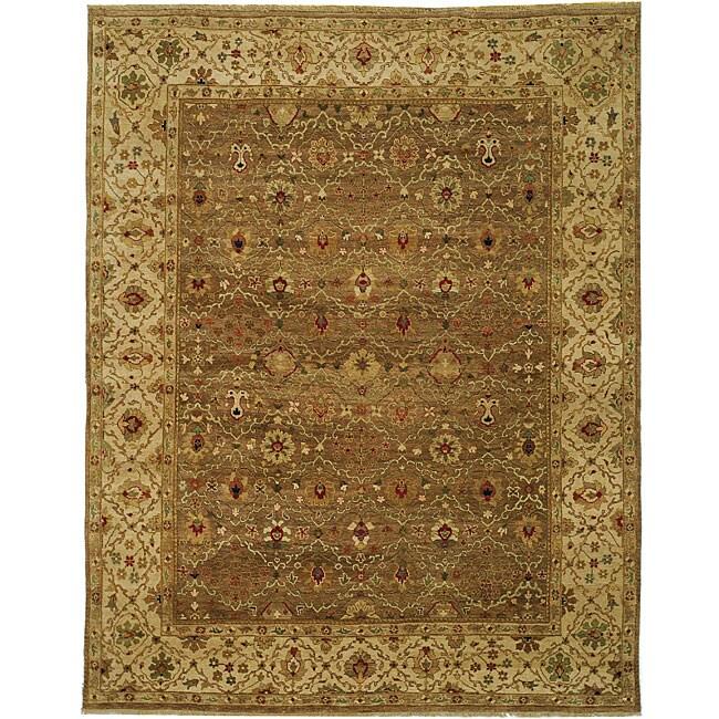 Heirloom Treasures Hand-knotted Beige Wool Rug (8' x 10')