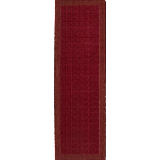 Calvin Klein Nourison Home Design Burgundy (Red) Rug (2'3...