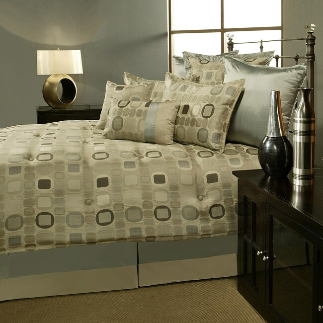 Sherry Kline 'Metro' 7-piece Spa Blue Comforter Set